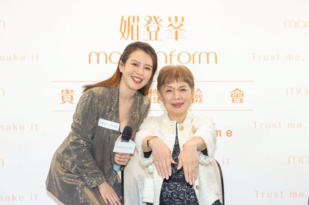 劉品言(左)提早帶媽媽享受母親節按摩課程,寵媽無極限。圖/媚登峯提供