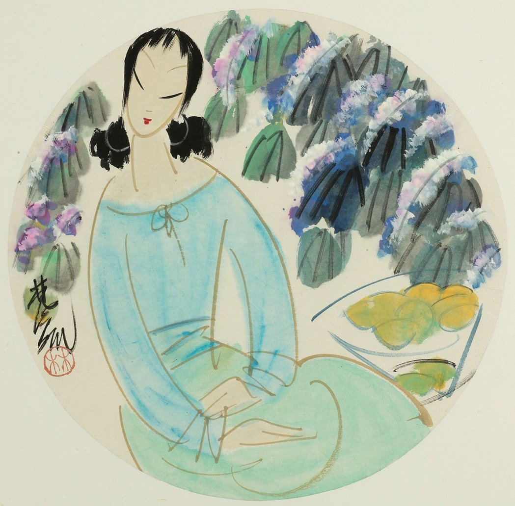 藝術大師林風眠的「花間仕女」,該幅畫作曾於國立歷史博物館館刊2006年《歷史文物...