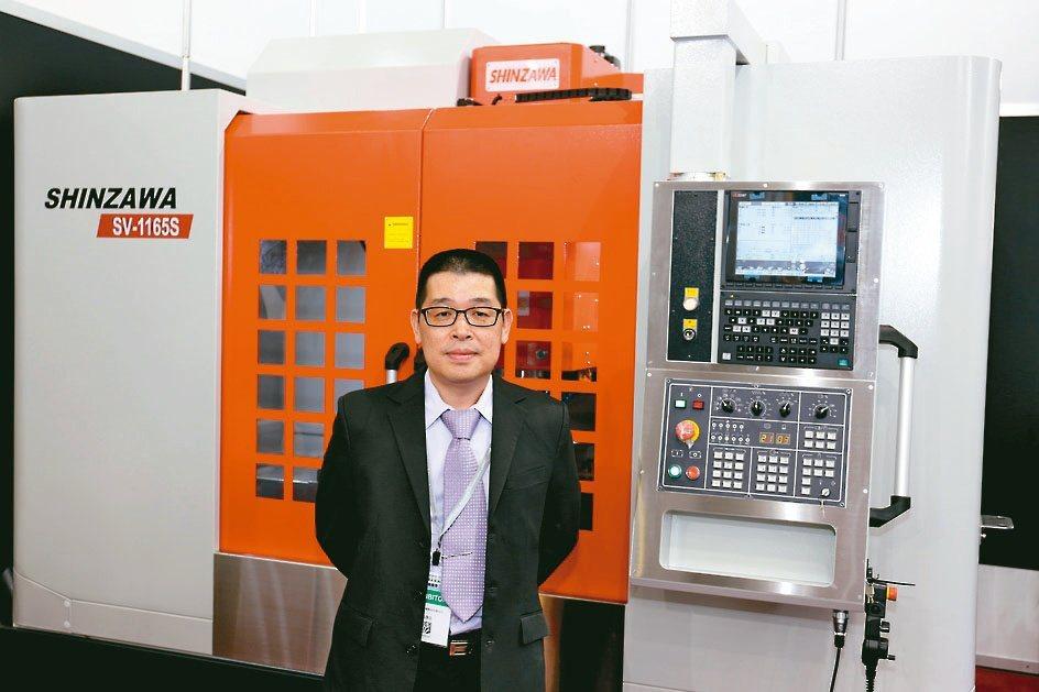 震澤精密機械公司總經理吳啟忠。黃奇鐘/攝影