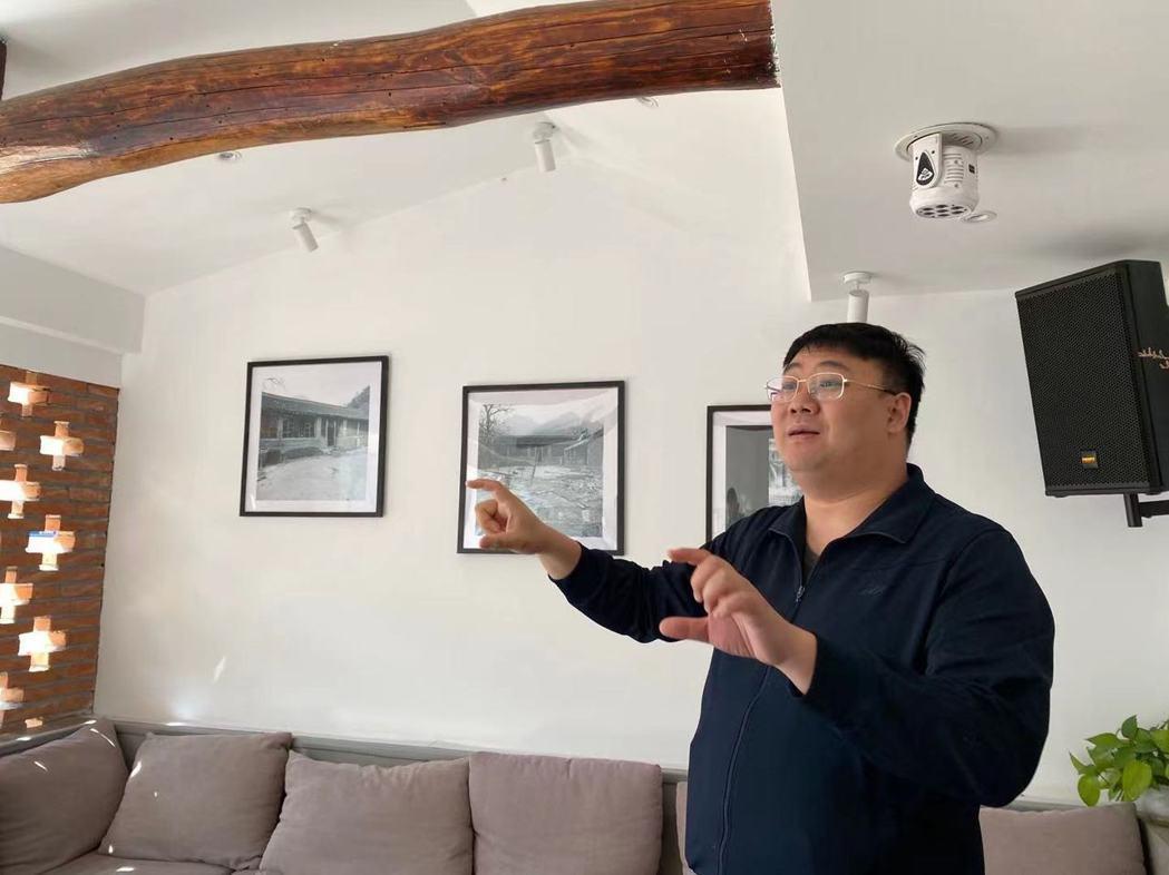 與友人一同合資的陸彬濱在平谷已投資30多個小院。記者呂佳蓉/攝影