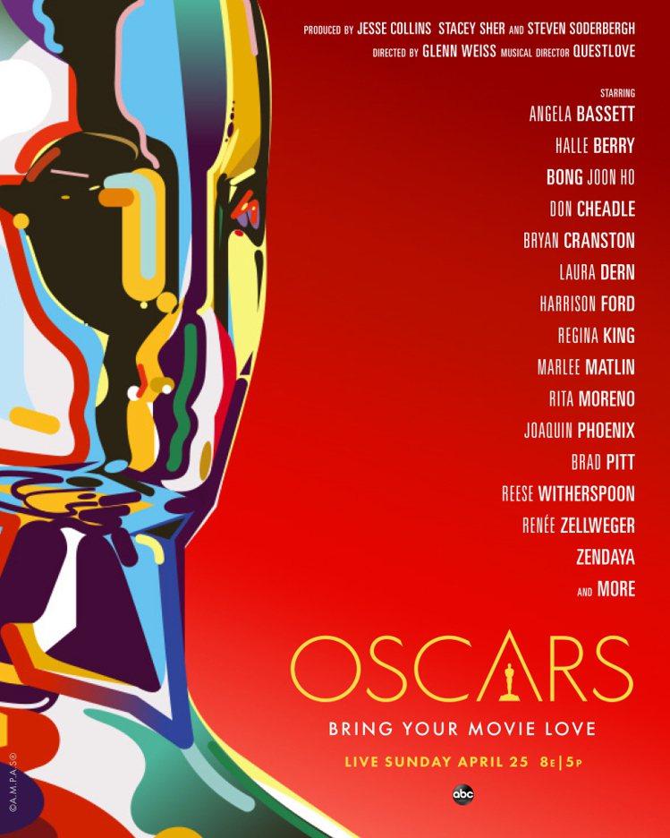 奧斯卡頒獎典禮請來十多位紅星參與,海報上標明由他們「主演」。圖/摘自AMPAS