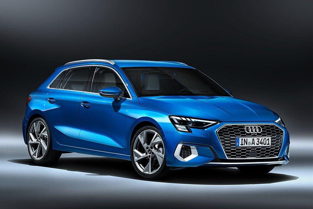 全新世代Audi A3 Sportback以極具運動感和緊湊的車身尺碼,在造型設...