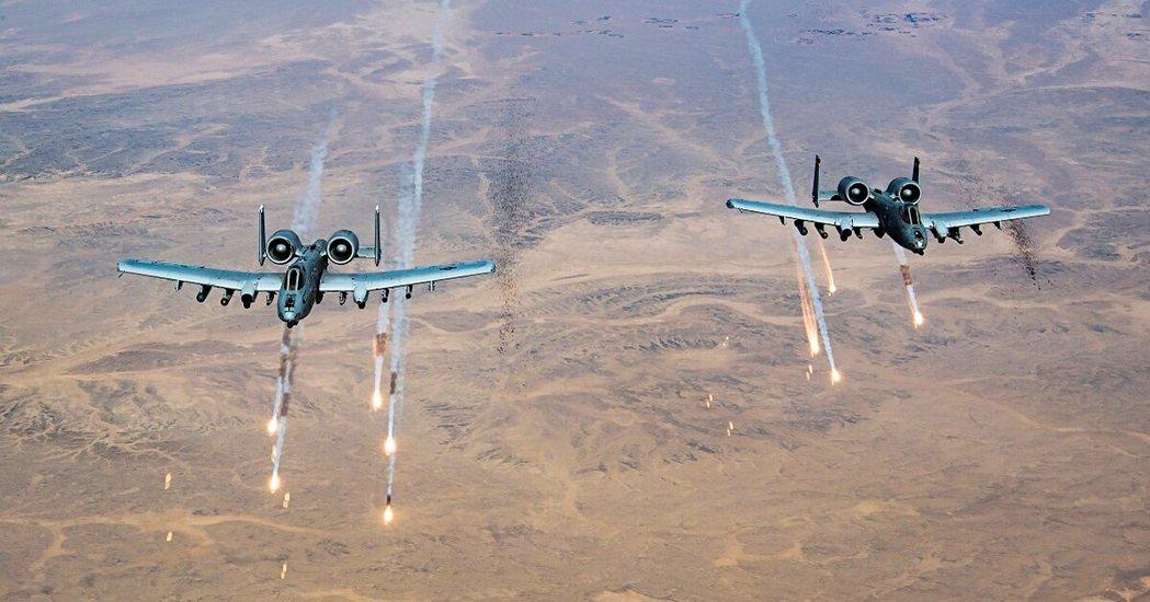 圖為2020年美軍恢復對塔利班組織的空襲攻擊。 圖/美國空軍