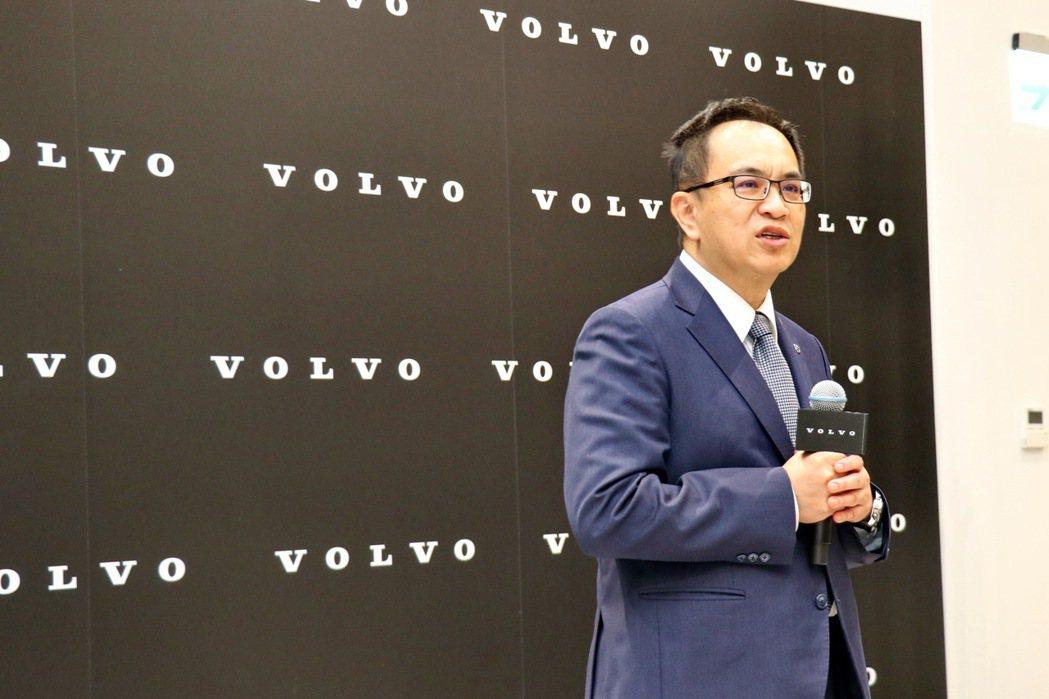 Volvo Car Taiwan總裁陳立哲。 記者陳威任/攝影