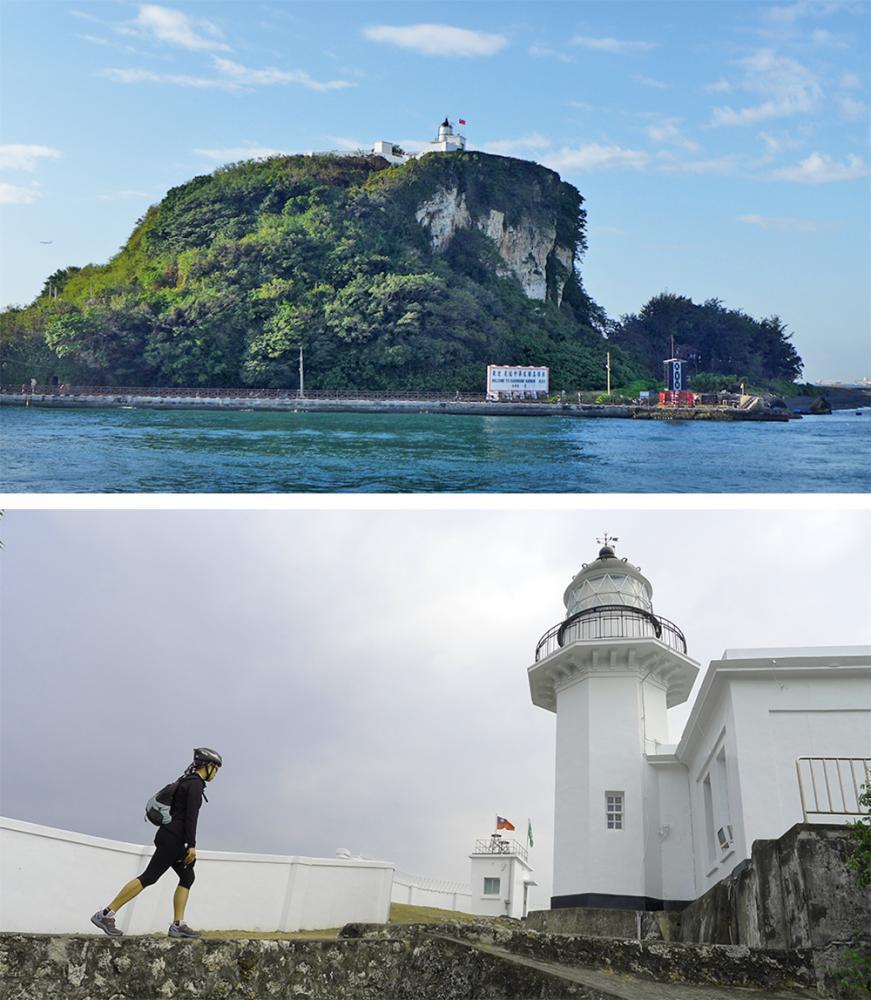 高雄燈塔與旗後砲台,是陳忠利每次必遊的景點。 圖/Eddie提供