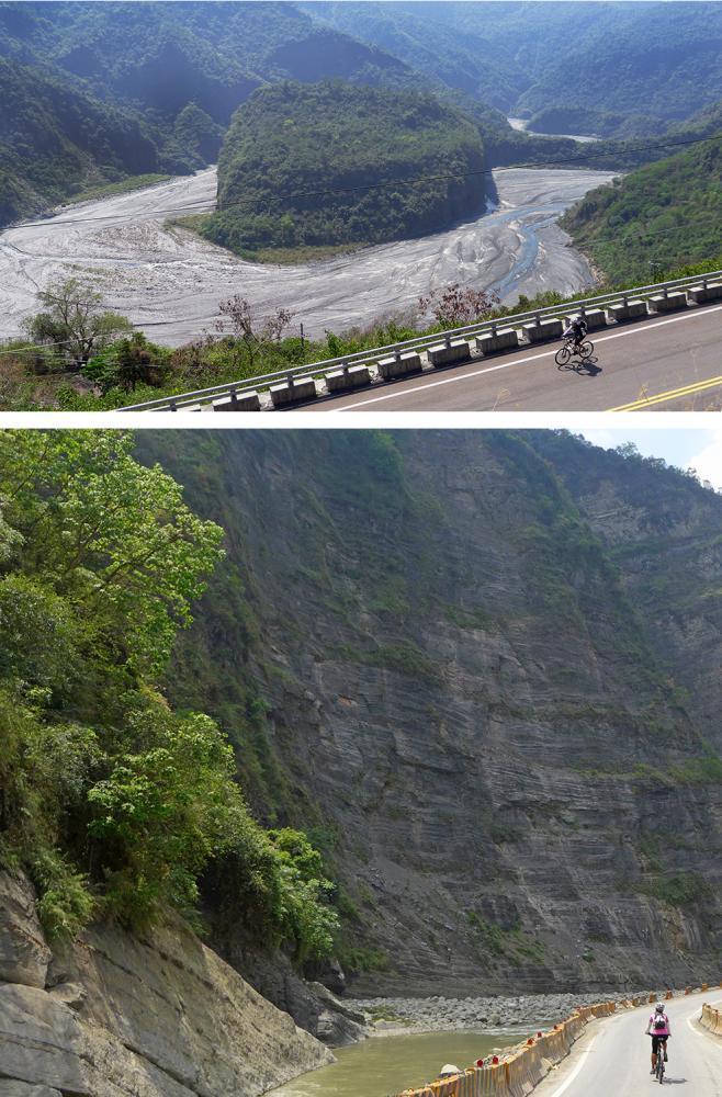 騎行風災過後的群山峻嶺之間,領略大自然壯闊。  圖/Eddie提供