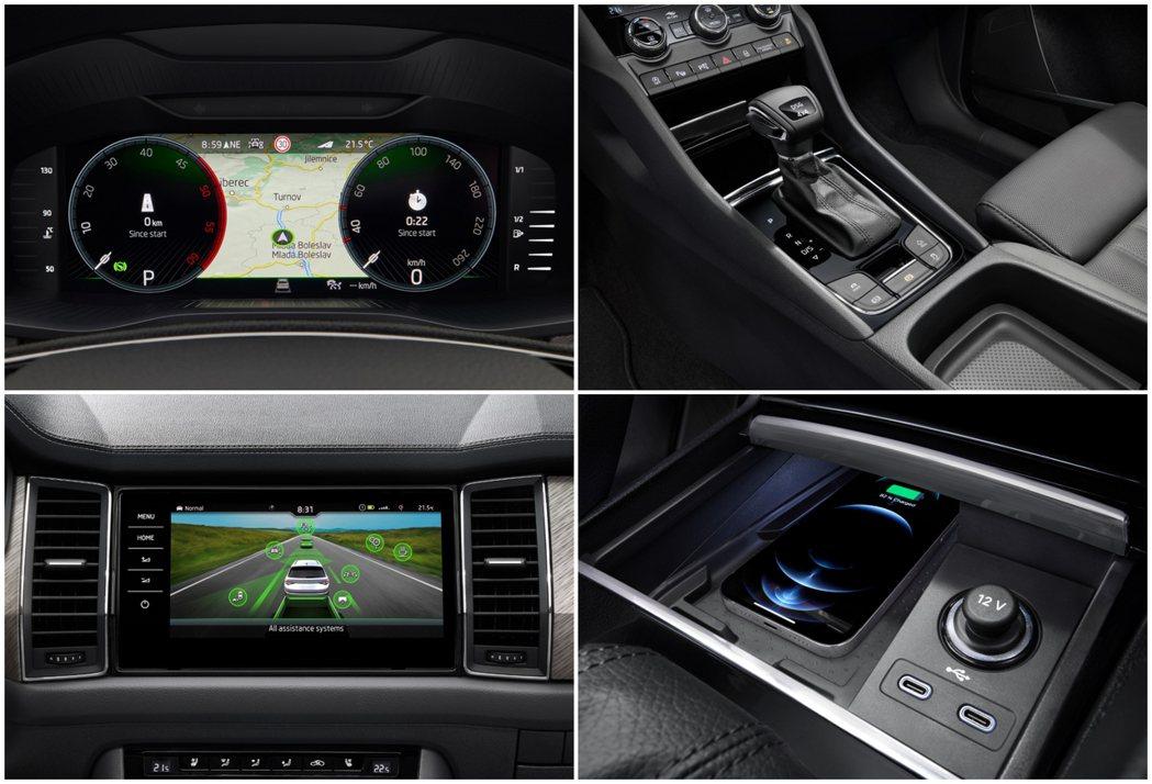 小改款ŠKODA Kodiaq高階車型配置10.25吋數位儀表與9.2吋中控螢幕...