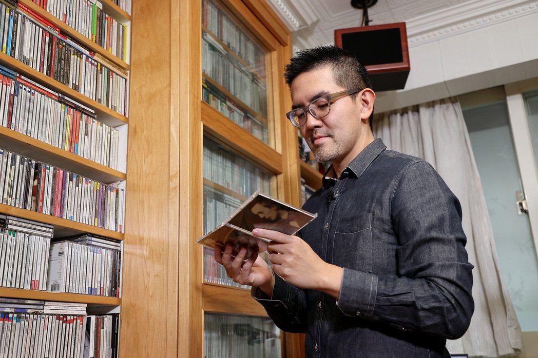 焦元溥說,家中的CD牆是他最奢華的擺飾。記者余承翰/攝影
