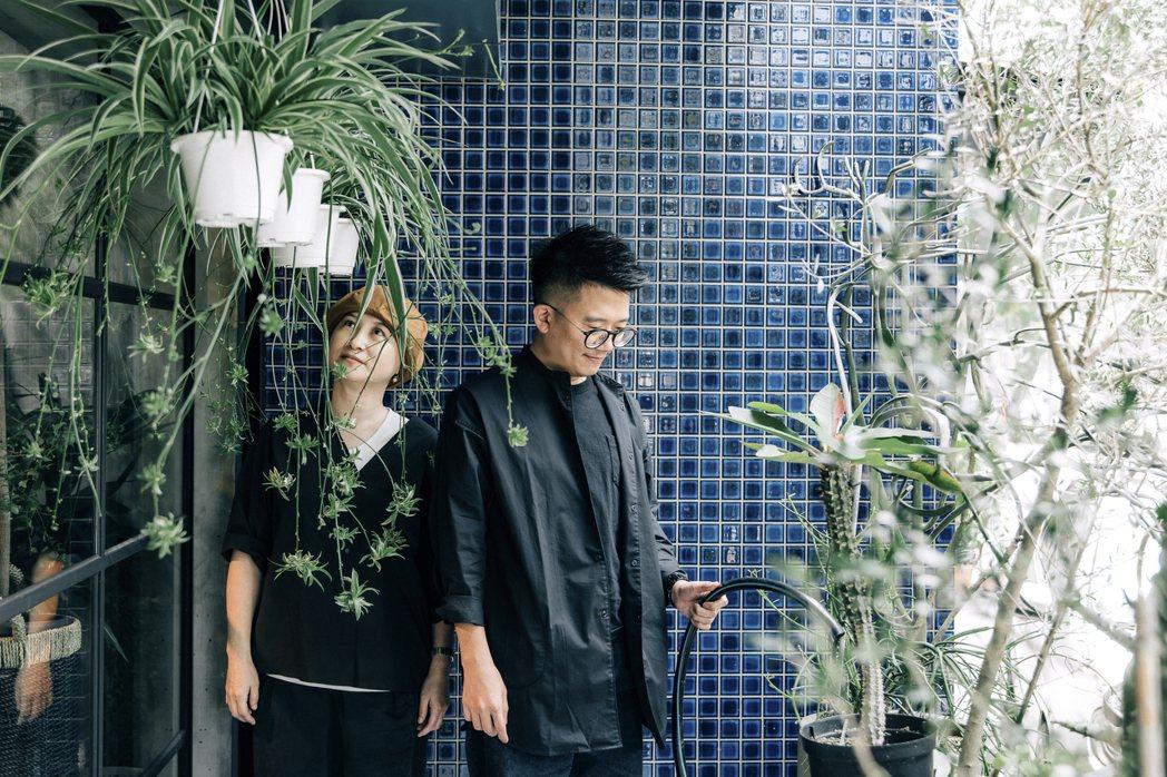 照顧植物最需要什麼?兩人說,要有愛啦。 圖/施清元攝影