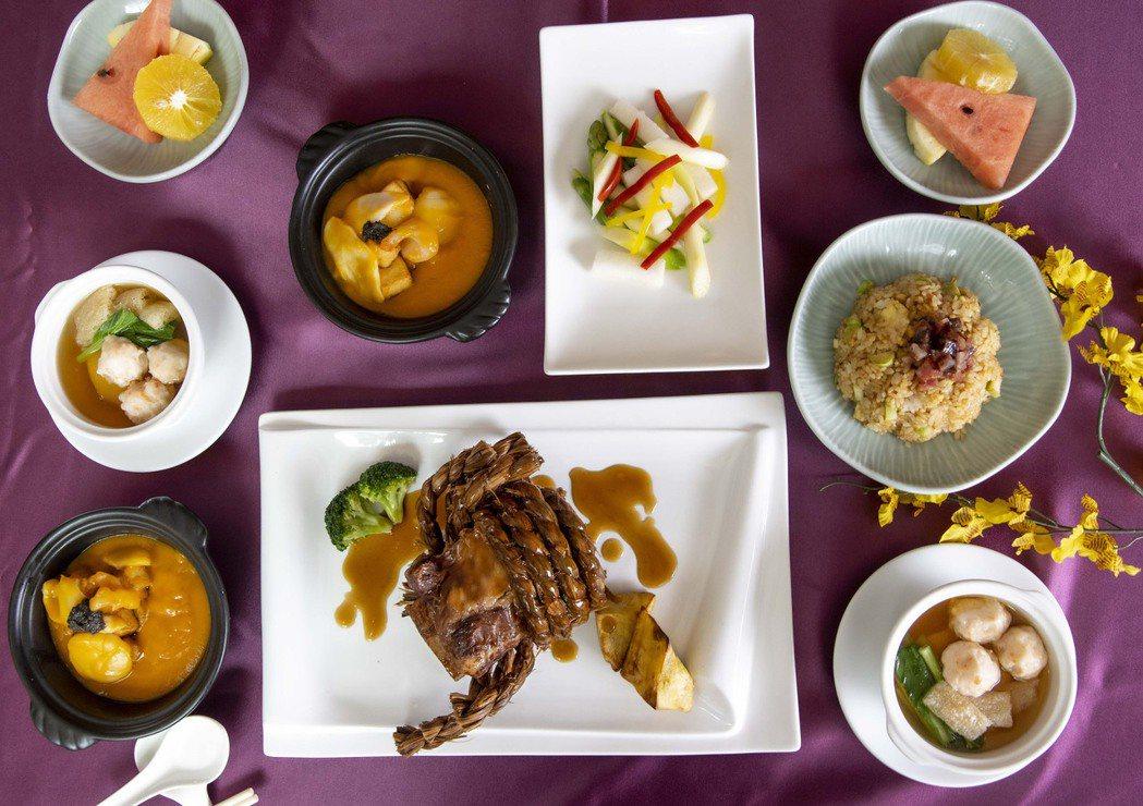 力麗哲園台北館推出稻香西施牛雙人分饗餐。 力麗哲園/提供。