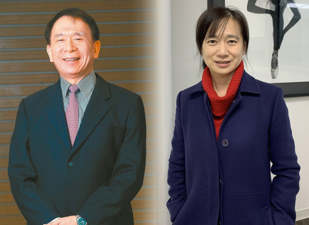 永昕董事長林榮錦(右)與總經理陳佩君(左),定位永昕的目標是生物藥CDMO的台積...