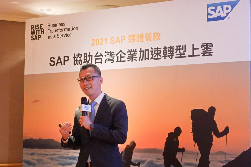 SAP全球副總裁、台灣區總經理林偉德。 彭子豪/攝影