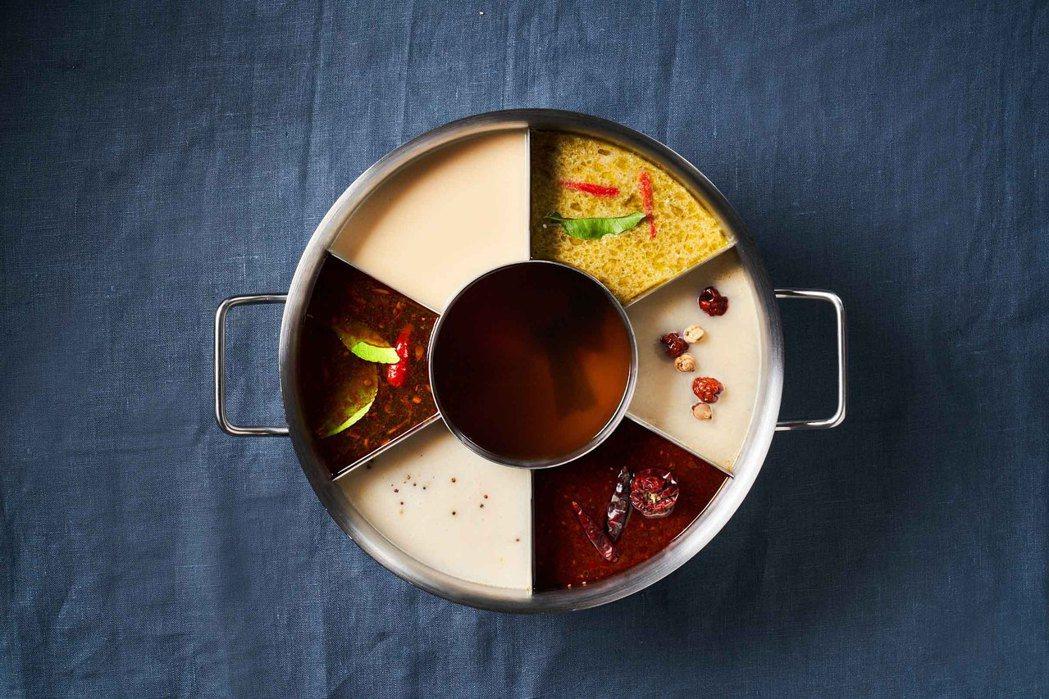 湊一鍋微風南京店開幕,限定「七格鍋」湯頭一次滿足。