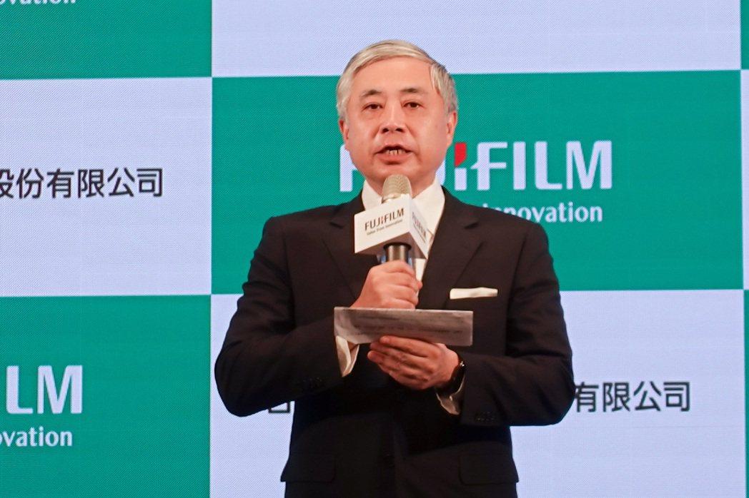 台灣富士軟片資訊董事長兼總經理勝田明典。 彭子豪/攝影