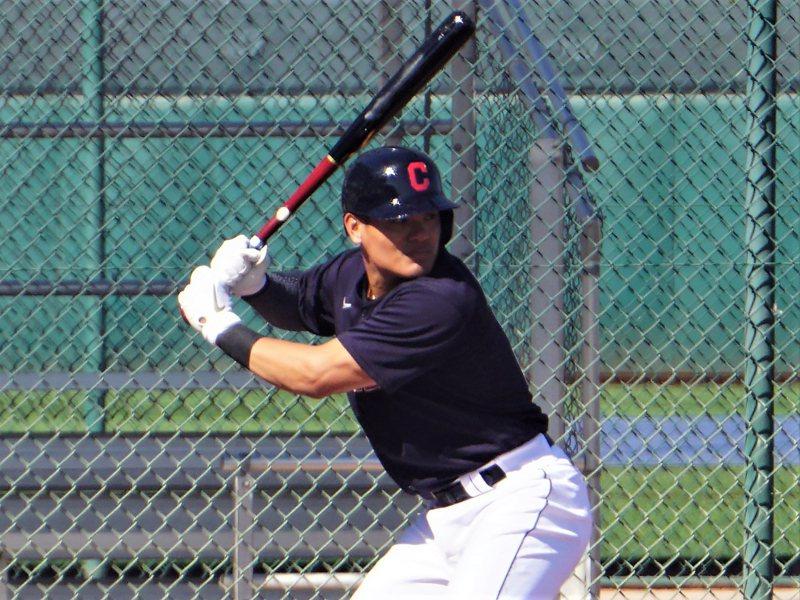 25歲的台灣棒球好手張育成。中央社