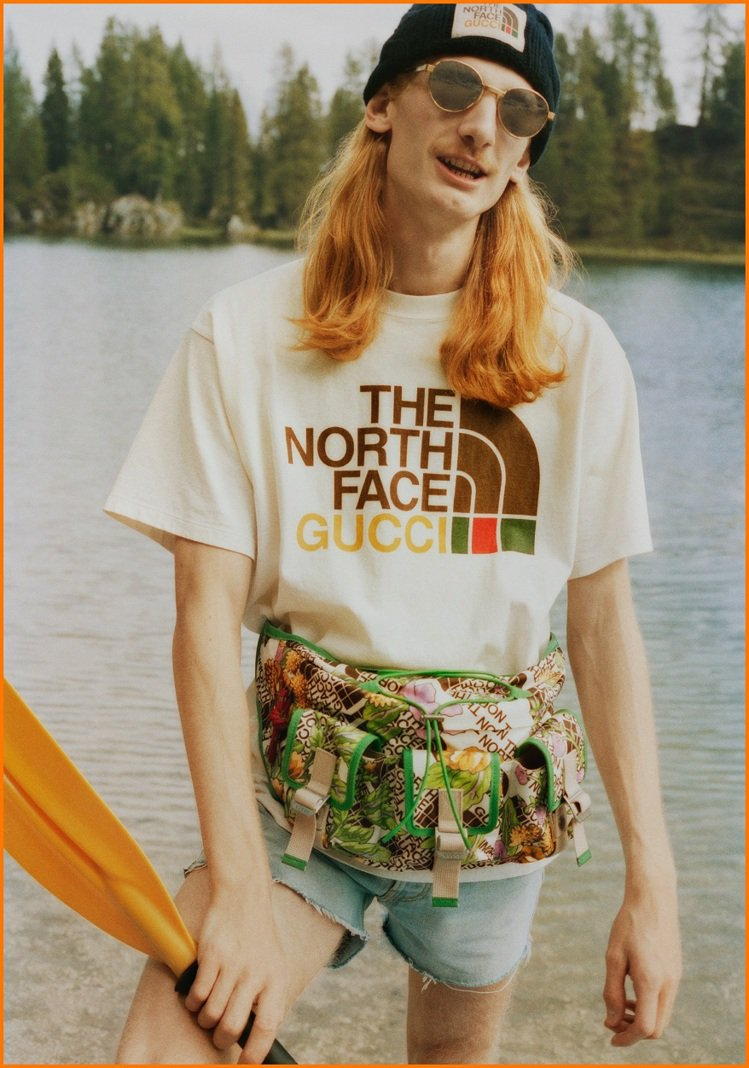 Gucci去年底推出The North Face x Gucci的聯名系列,掀起...