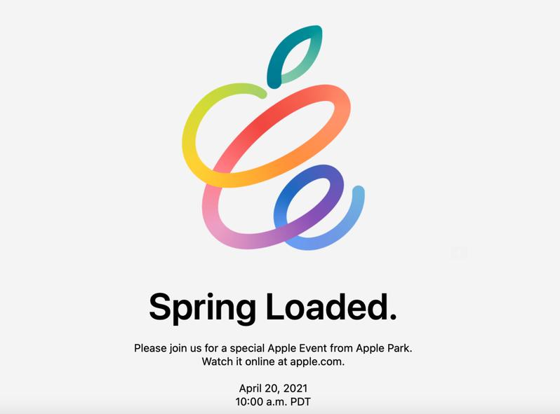 蘋果春季發表會將於台灣時間4月21日凌晨1點登場。圖/蘋果提供