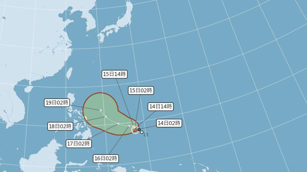 颱風生成。圖/氣象局