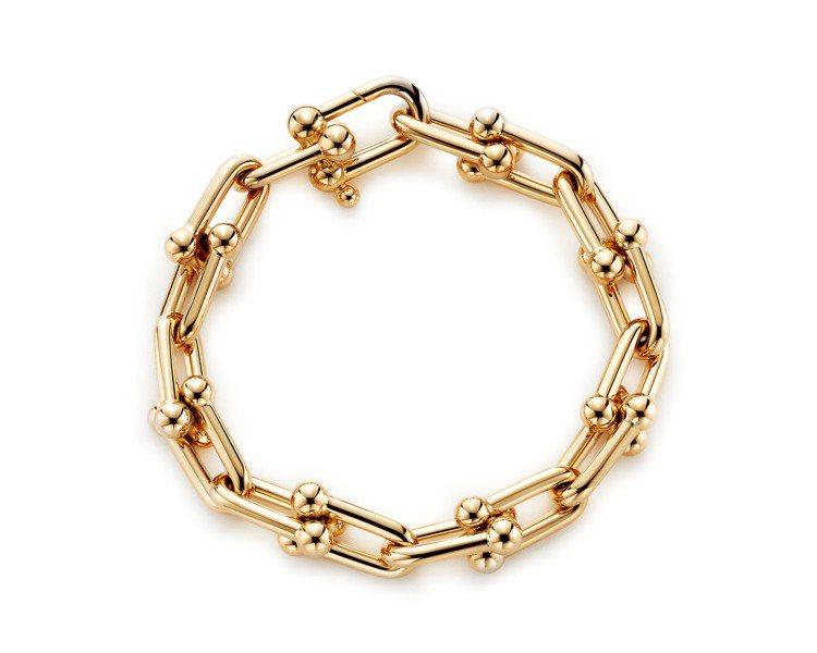 Tiffany HardWear鏈結設計18K金手鍊,約26萬8,000元。圖/...