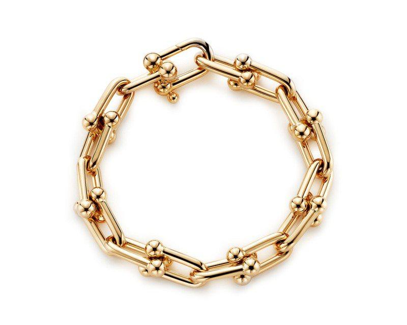 Tiffany HardWear鏈結設計18K金手鍊,約26萬8,000元。圖/Tiffany提供