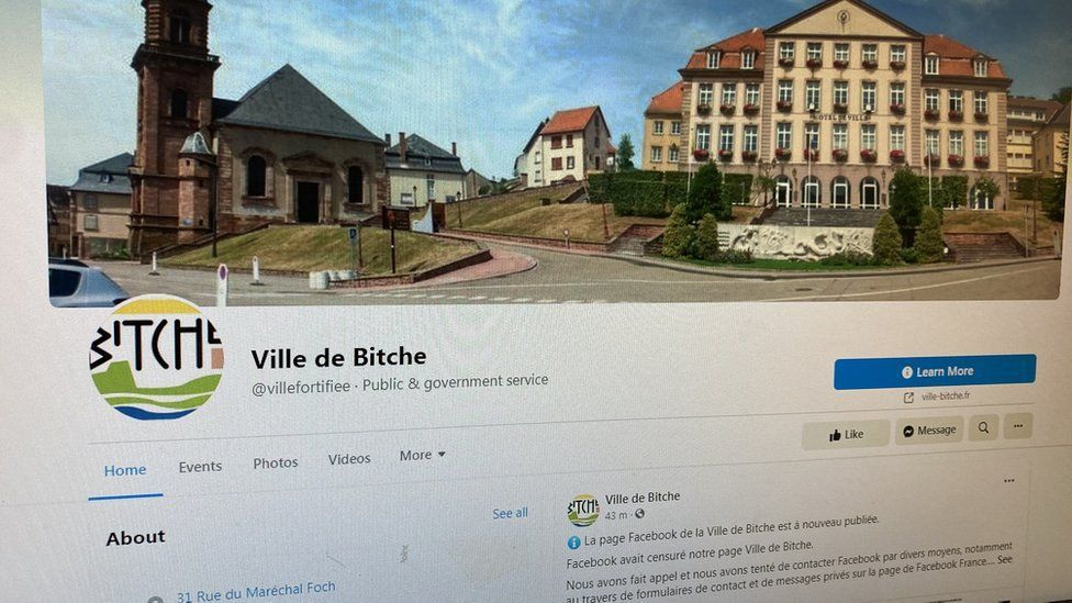 法國小鎮比特克有約5000人口,靠近德國邊境,當地首長奇佛表示,臉書上月19日突...