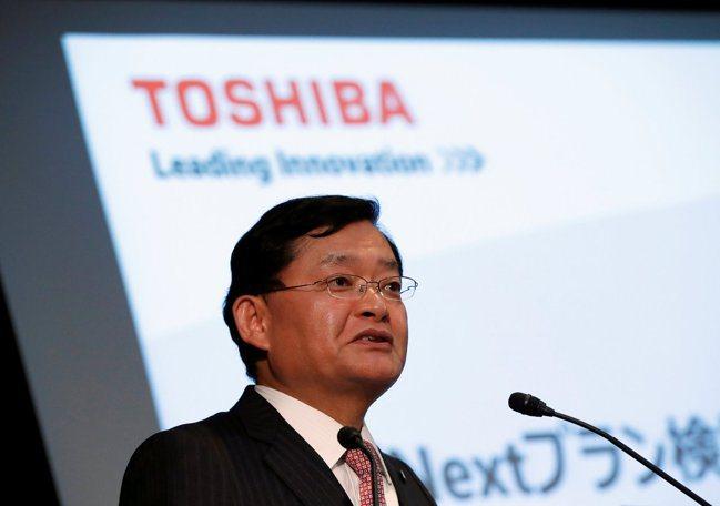 東芝集團社長車谷暢昭(如圖)周三宣布請辭。路透