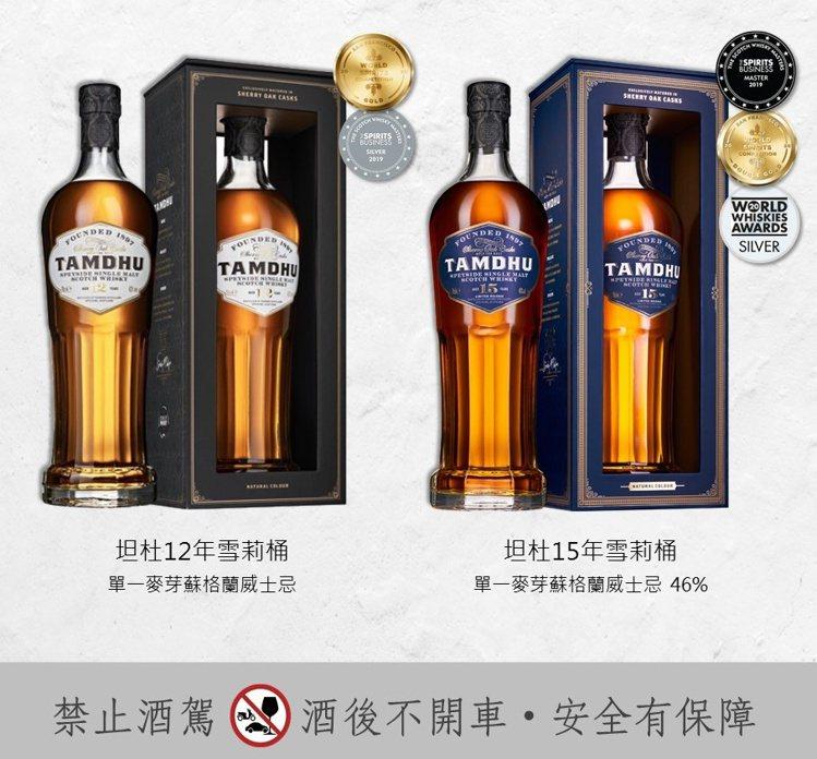 首波空運抵台產品為「坦杜12年雪莉桶威士忌」和「坦杜15年雪莉桶威士忌」。圖/陸...