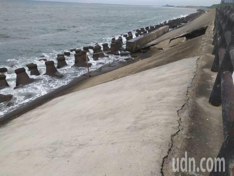 新竹焚化爐南側海提有破損,市府已經著手招標將修復。圖/新竹市環保局提供