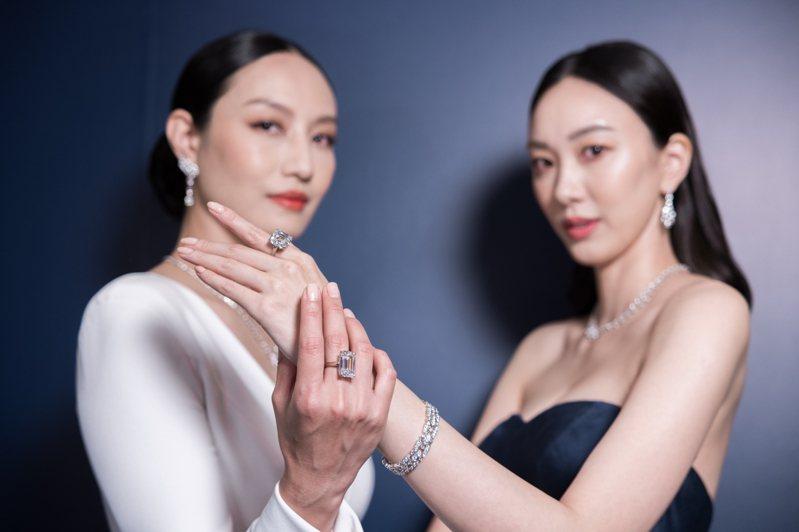 DE BEERS 1888 Master Diamonds頂級美鑽系列自即日起至4月18日在台北文華東方酒店總統套房展出。記者沈昱嘉/攝影