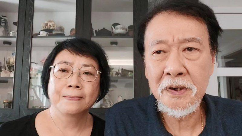 曾以琳的父母曾慶暉(右起)、石宇慶呼籲不要酒駕。記者林伯驊/翻攝