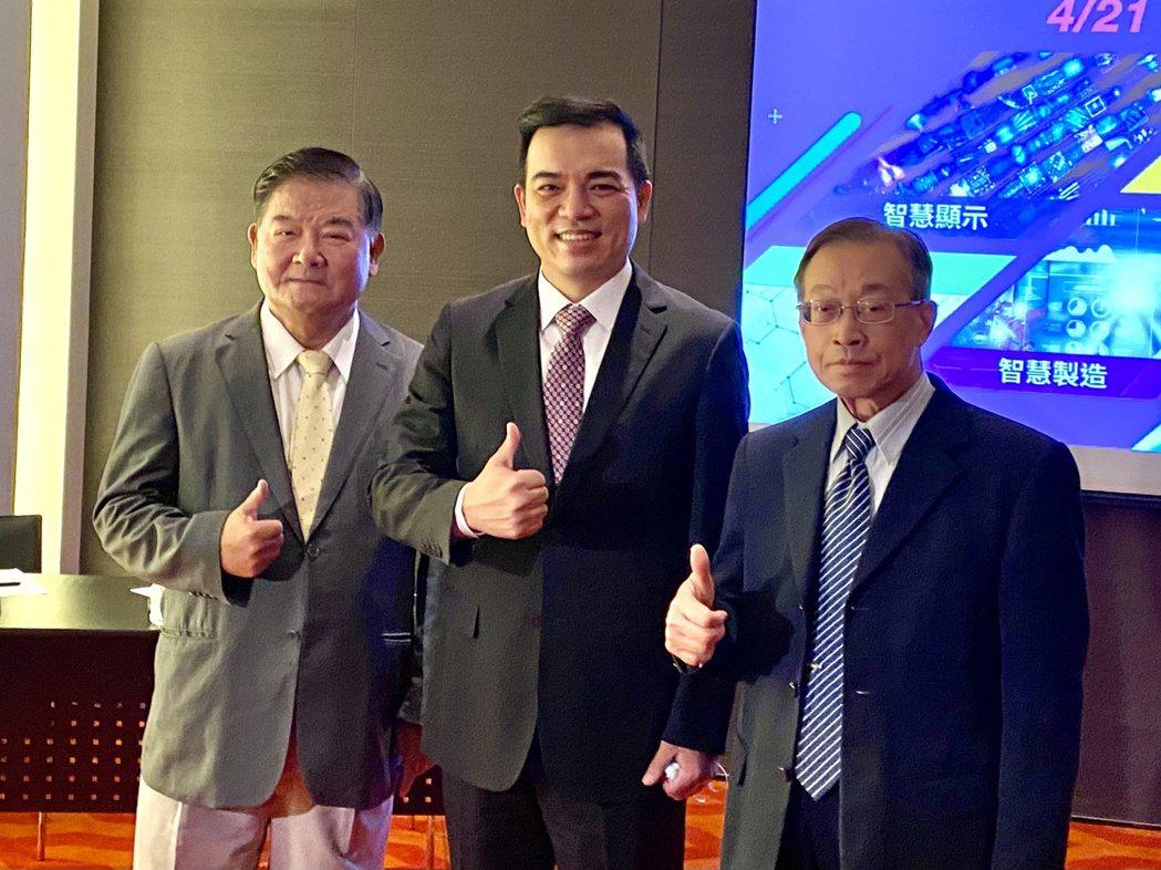 友達總經理柯富仁今日出席2021 Touch Taiwan智慧顯示展展前記者會。...