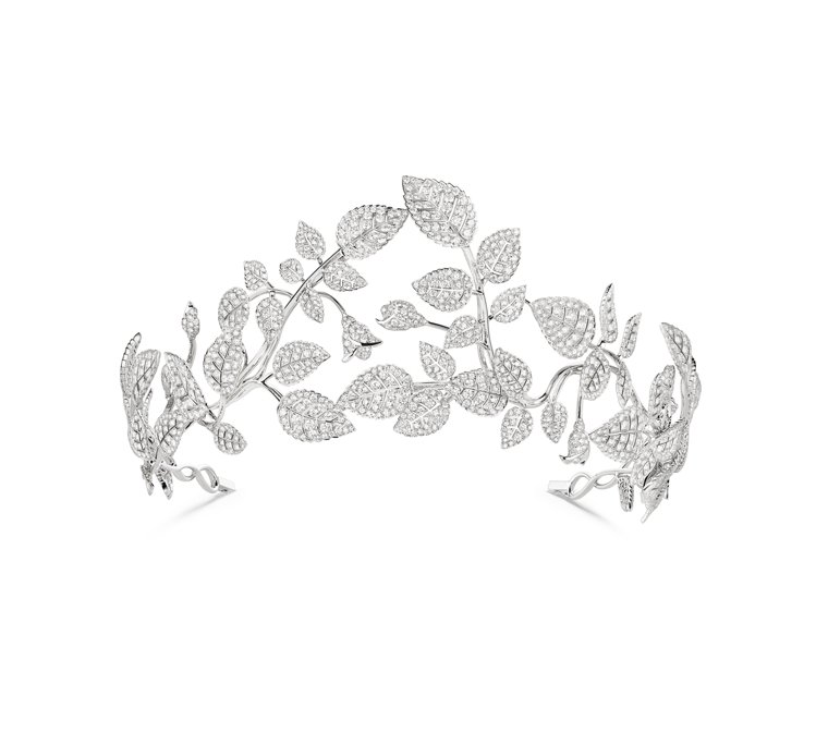 Mélodie Nacrée 18K白金冠冕,鑲嵌1630顆重35克拉明亮式...
