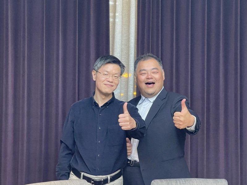 全新董事長陳建良(右)與總經理黃朝興(本報系資料庫)
