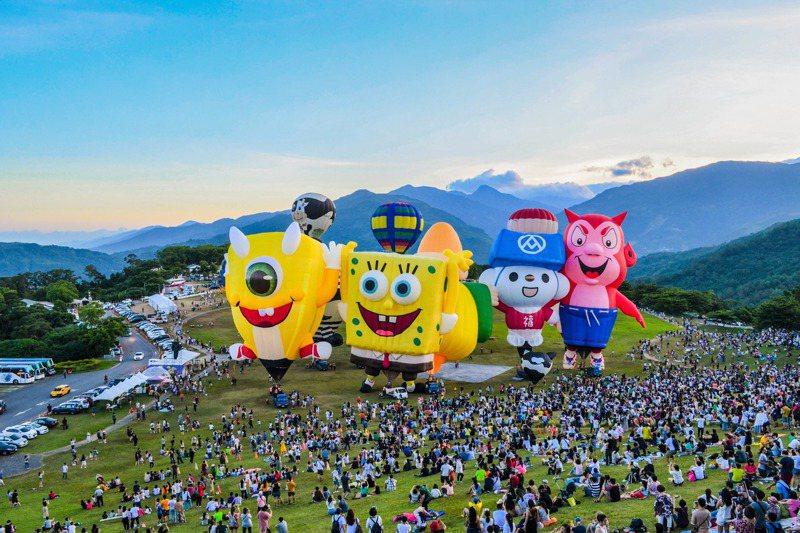 台東熱氣球嘉年華帶進的經濟效益愈來愈高。圖/台東縣政府提供