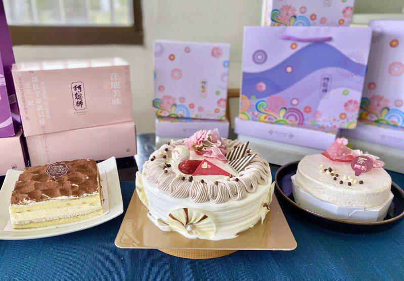 阿聰師用大甲芋頭創作出多款母親節蛋糕,要為媽咪療「芋」一下。記者宋健生/攝影