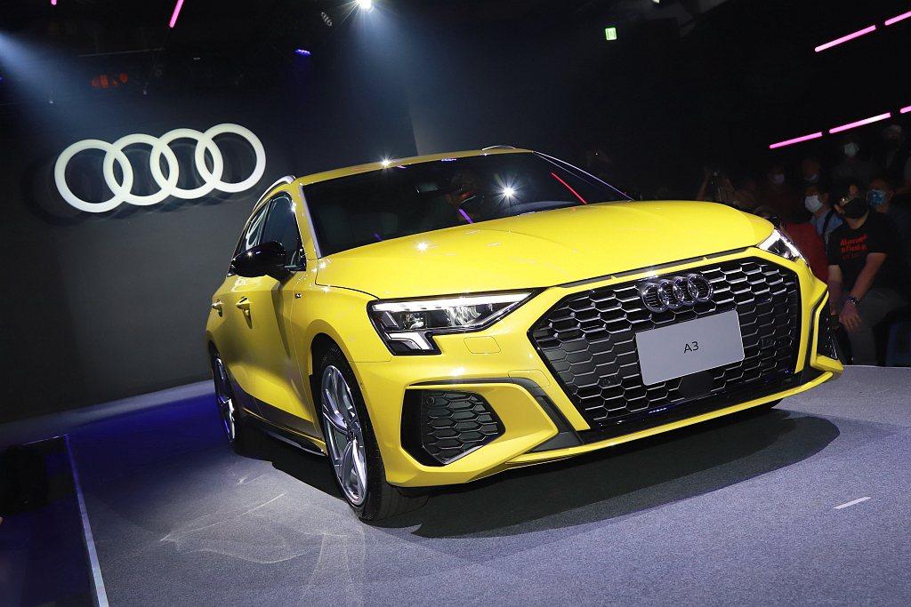 台灣奧迪正式發表全新第四代Audi A3 Sportback車系。 記者張振群/...