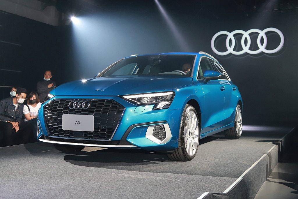 全新世代Audi A3 Sportback線條元素融合新世代設計語彙,車頭前方內...