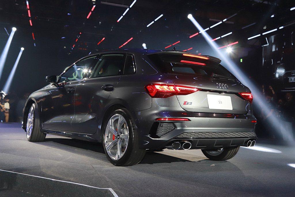 Audi S3 Sportback搭載2.0L缸內直噴渦輪增壓汽油引擎,可爆發出...