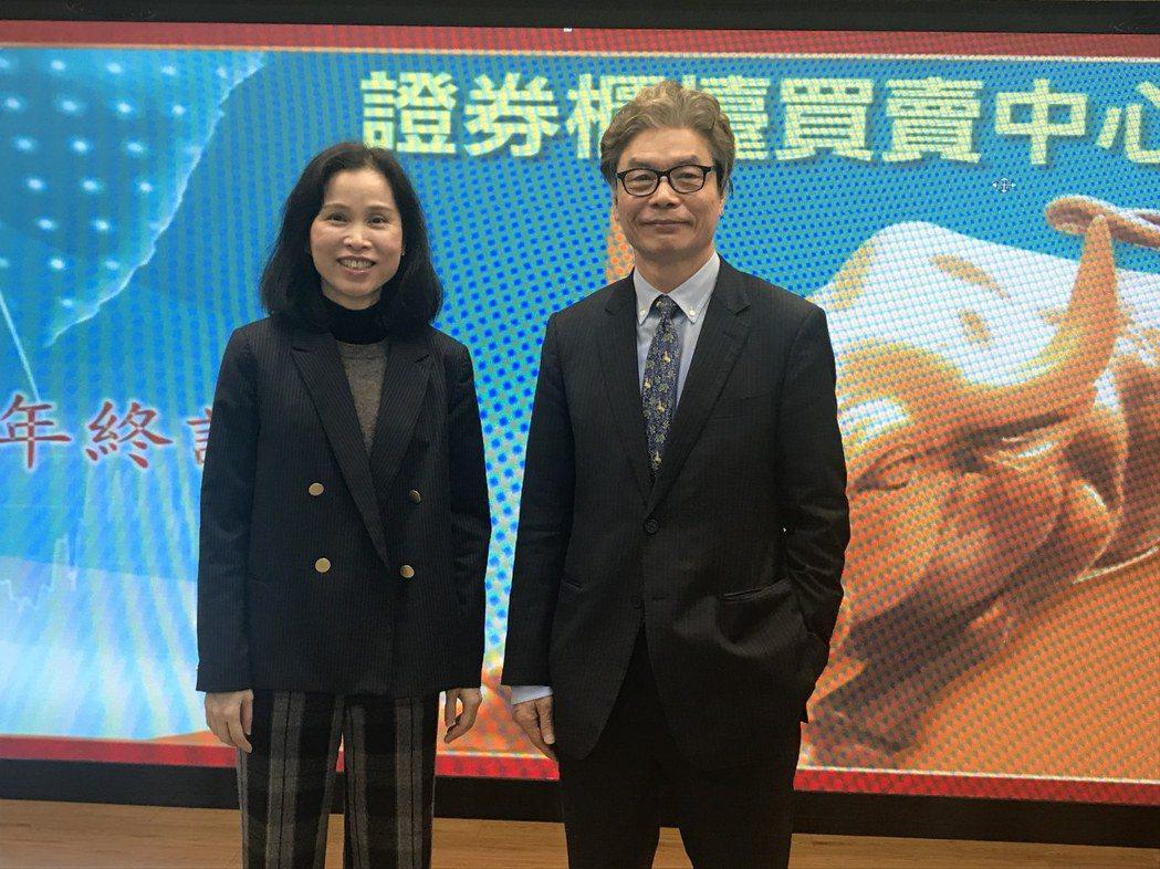 櫃買中心董事長陳永誠(右)。記者王奐敏/攝影