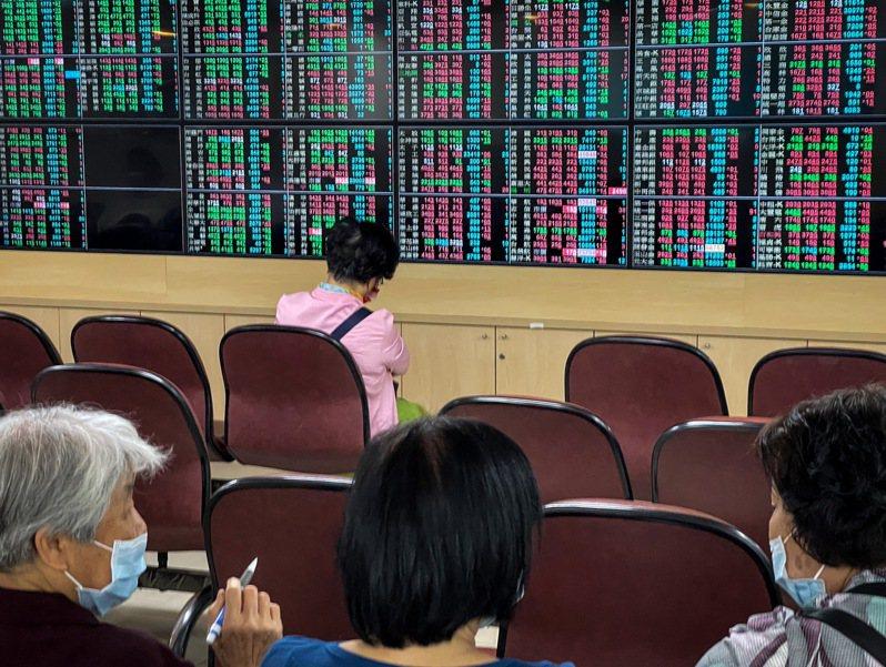 台股開盤下跌14.91點。中央社