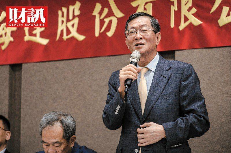 慧洋-KY董事長藍俊昇日前釋出樂觀展望。(圖/財訊/吳尚哲攝)