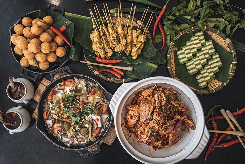新竹老爺酒店推出星馬美食嘉年華。 新竹老爺酒店/提供