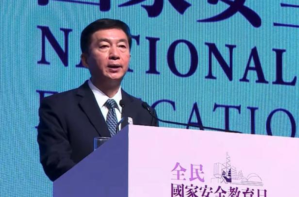 香港中聯辦主任駱惠寧表示,危害國安行為出手必到位,讓外部勢力留教訓。(香港電台網...