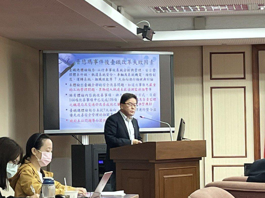 消基會交通委員會召集人李克聰。記者曹悅華/攝影