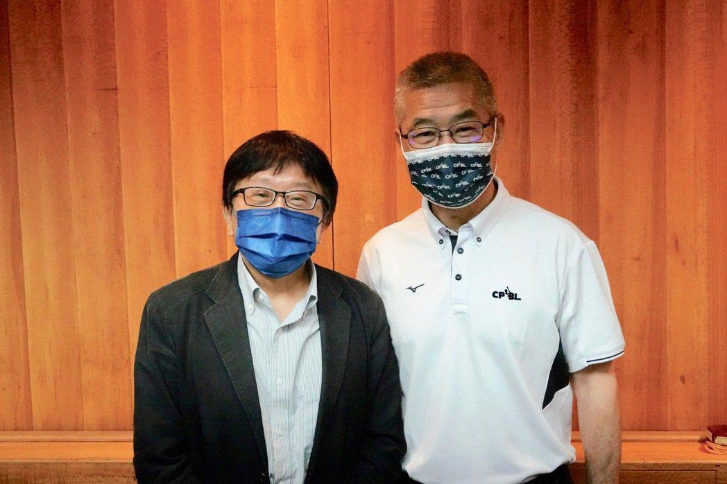 東京奧運6搶1最終資格賽防疫三方會議,中華職棒秘書長楊清瓏(右)、中華棒協秘書長