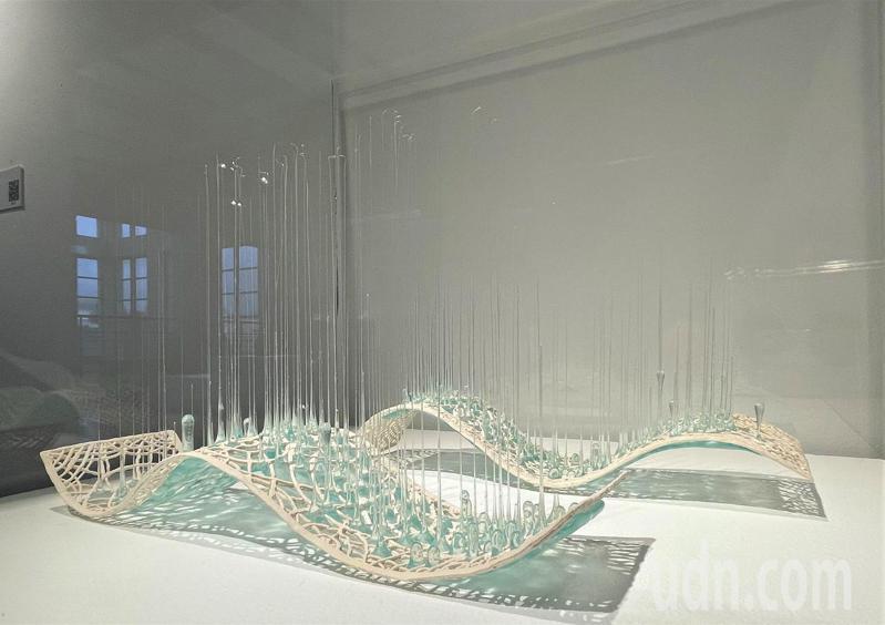 沙泥亞Estonia「二」波浪線條的基底,近乎平行絲絲垂線,展現令人著迷的浪漫優雅。記者張睿廷/攝影
