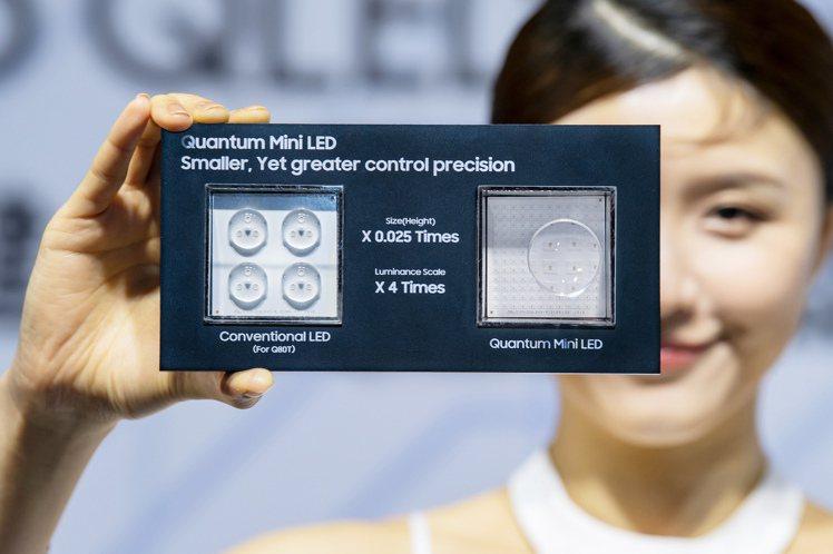 三星最新Neo QLED量子電視採用Mini LED技術,晶粒大小僅有傳統LED...