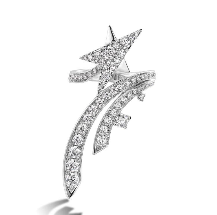 Starlight白K金鑽石戒指,24萬。圖/HEARTS ON FIRE提供