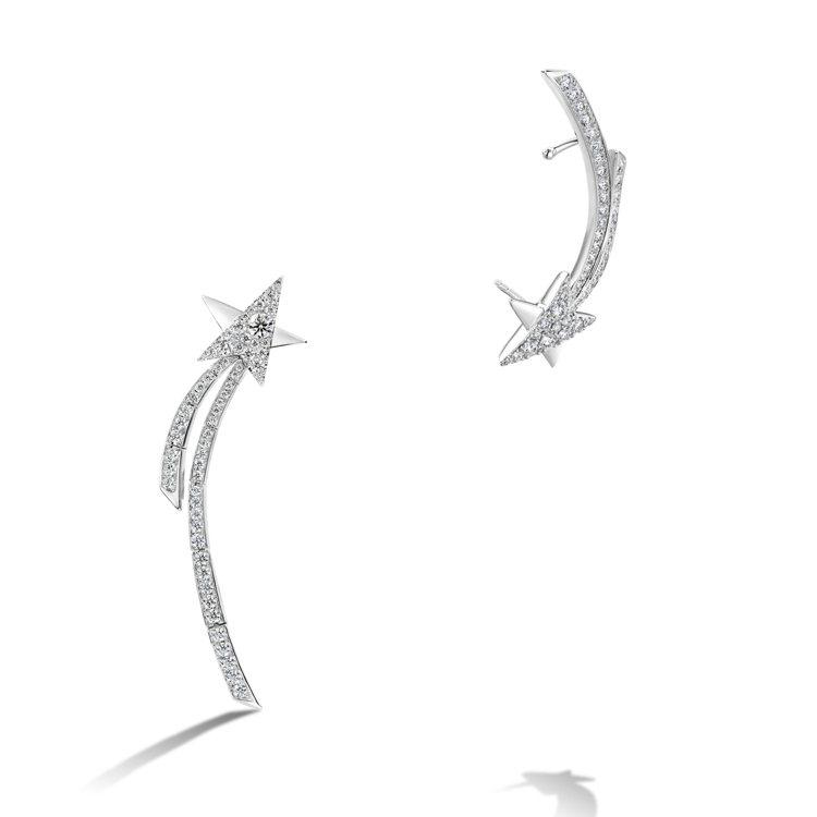 Starlight白K金鑽石耳環,37萬。圖/HEARTS ON FIRE提供