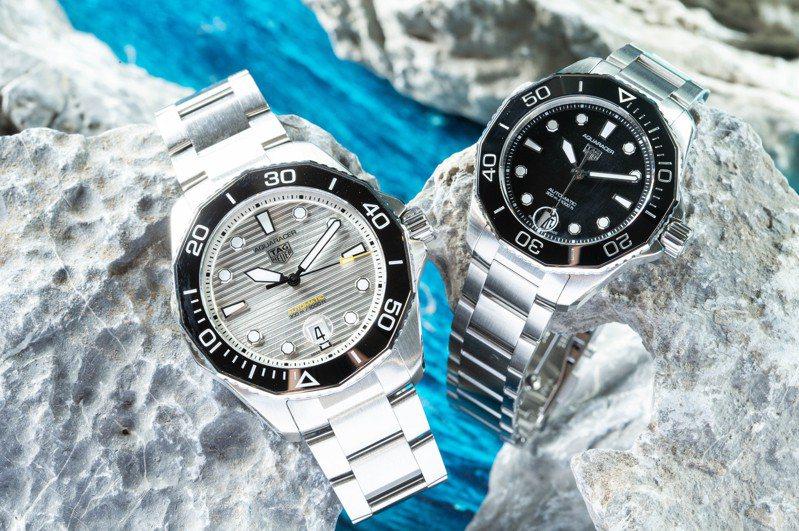 全新的Aquaracer Professional 300米自動腕表,很快來台灣讓媒體先上手把玩。圖/TAG Heuer提供